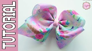 "Jojo Siwa (Jumbo Boutique 3"") Ribbon Bow Tutorial DIY by Elysia Han..."