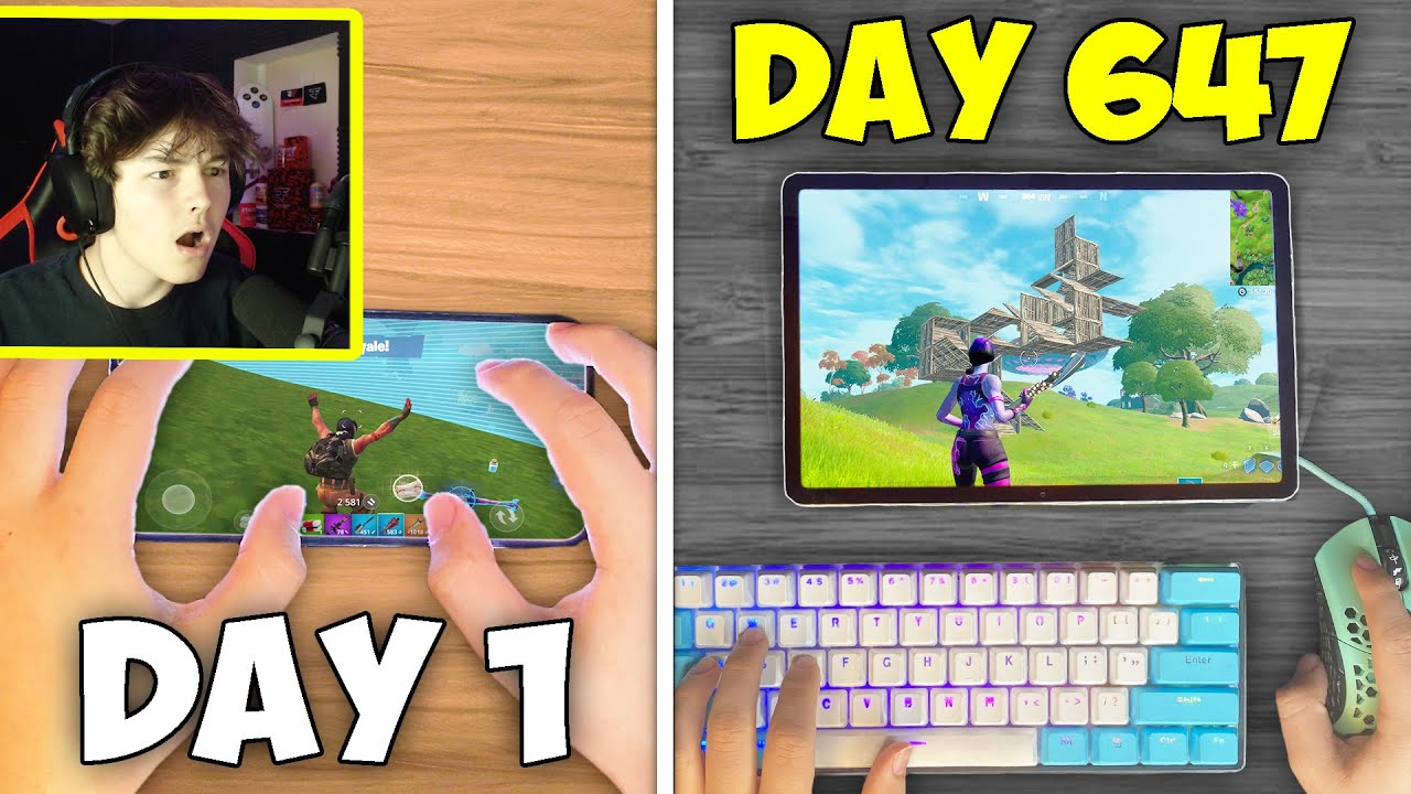 647 Days of MOBILE to KEYBOARD and MOUSE Progression in Fortnite...