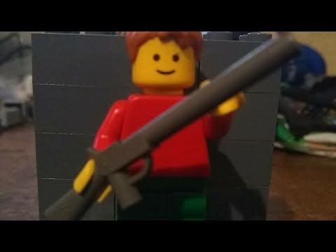 Home Alone BB gun scene in Lego