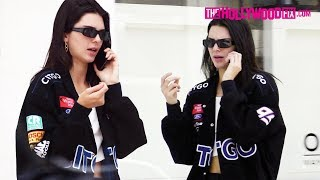 Kendall Jenner Rocks A Citgo Jacket For Lunch With Fai Khadra In Her New Lamborghini Urus 5.28.19