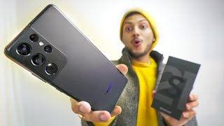 Samsung S21 Ultra Unboxing and Quick Look | Matte Black Magic !