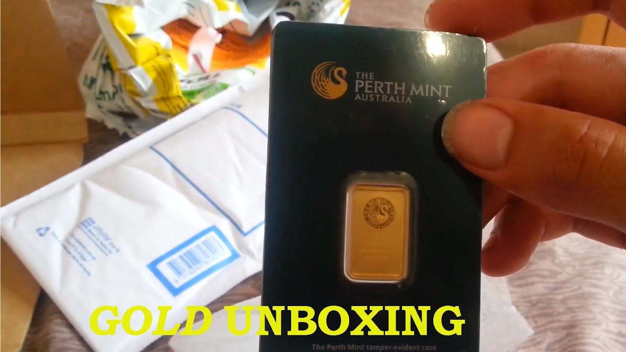 Perth Mint 5g Gold Bullion Bar 5g Unboxing Youtube