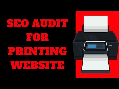 SEO Audit For Printing Site - 동영상