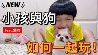 小孩與狗~如何一起玩!feat.樂樂
