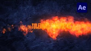 HOW TO MAKE THE FIRE TEXT REVEAL IN AFTER EFFECTS