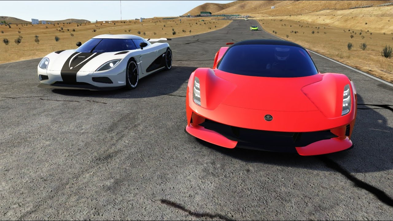 Koenigsegg Agera R vs Sports Cars at California Raceway Main Course