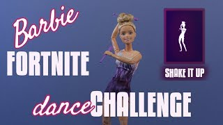 Shake It Up - Barbie Fortnite Dance Challenge - Stop Motion Animation with Rhythmic Gymnast Doll