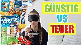 Günstig VS Teuer,  Süßigkeiten Challenge - Celina