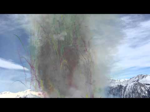 Daytime Fireworks in the 3 Valleys Alps