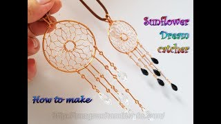 Sunflower Dream catcher - Pendant or decoration for your home 474