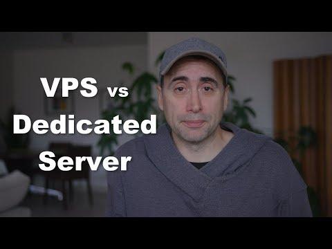 VPS server vs Dedicated Server in 2018