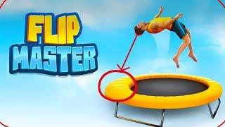 """ПРЯМ БАШКОЙ ОБ КРАЙ БАТУТА!!! Обзор игры """"Flip Master"""""""