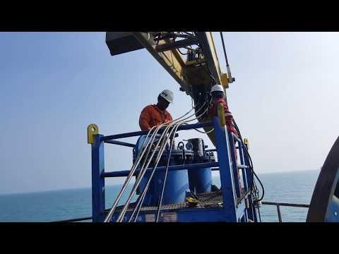 Cara Pengantian Wirerope pada Offshore  Pedestal Crane