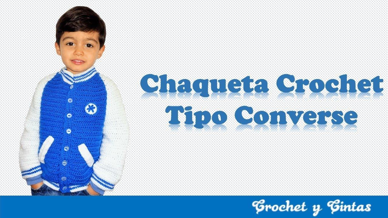 Parte Converse Youtube Chaqueta 1 Crochet Tejido A De 3 Tipo C1Sx7wgqnR