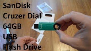 Unboxing Green 64GB SanDisk Cruzer Dial USB Flash Drive