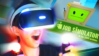 VIRTUAL REALITY SUPERMARKED? | Job Simulator (#1)