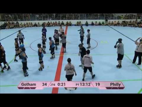 ECDX 2015: Philly Roller Derby Liberty Belles vs  Gotham Girls Roller Derby