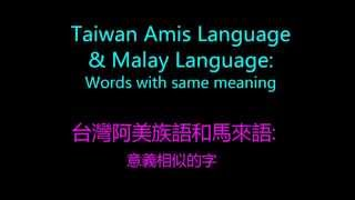 Taiwan Amis Language & Malay Language Words with similar meaning (台灣阿美族語和馬來語意思相似的字)