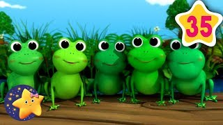 How To Count 5 Little Speckled Frogs | Fun Learning with LittleBabyBum | NurseryRhymes for Kids