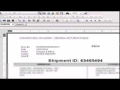 Bill of Lading - Crystal Reports - Fishbowl Database - YouTube