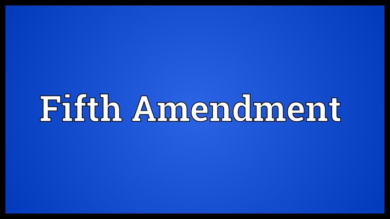 5th amendment The principles contained in the 5th amendment are vital to a person accused of a crime although the amendment contains several provisions, four elements protect a person accused of a crime.