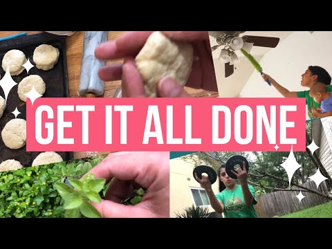 GET IT ALL DONE- WORKOUT, COOK, CLEAN, JUICING, LAUNDRY! PRODUCTIVE MOM