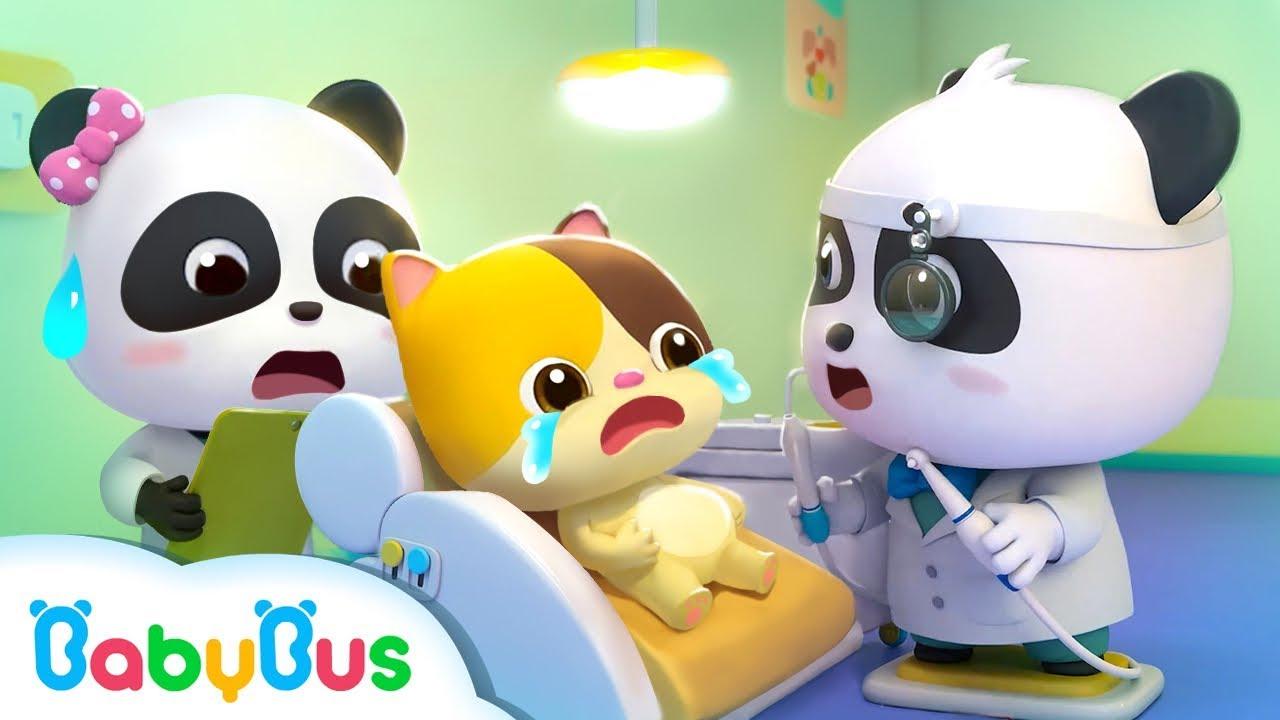 小貓咪牙齒好痛!奇奇妙妙小牙醫快來幫幫她 | 醫院過家家兒歌 | 童謠 | 動畫 | 卡通 | 寶寶巴士 | 奇奇 | 妙妙