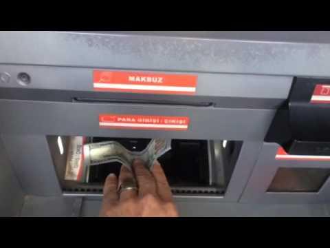 حول نقودك بسهولة في تركيا(Exchange machine)الدولار(dollar)و(euro)لمكائن الصرافة ziraat bankası 🇹🇷