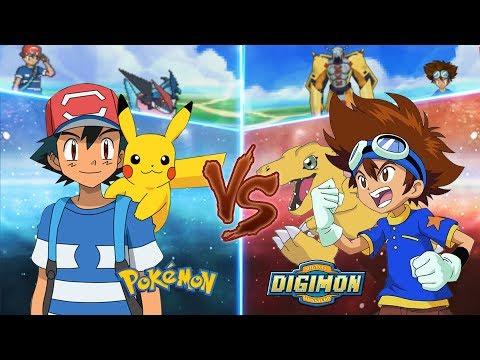 Pokemon Crossover Anime: Pokemon Vs Digimon (Ash Vs Taichi)