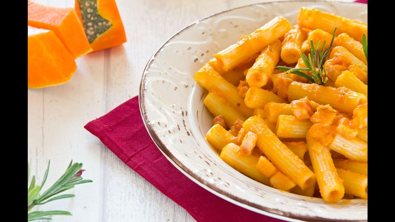 Ricetta pasta zucca panna e pancetta