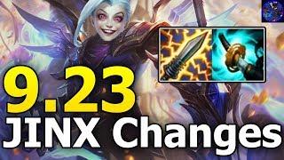 HUGE Patch 9.23 Preseason CHANGES And BUILDS Jinx Edition (League Of Legends) Let's Talk Jinx #156