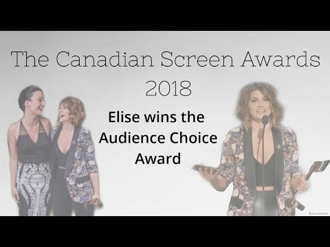 Elise Bauman, Natasha Negovanlis  Red carpet, Acceptance speech, Press room etc