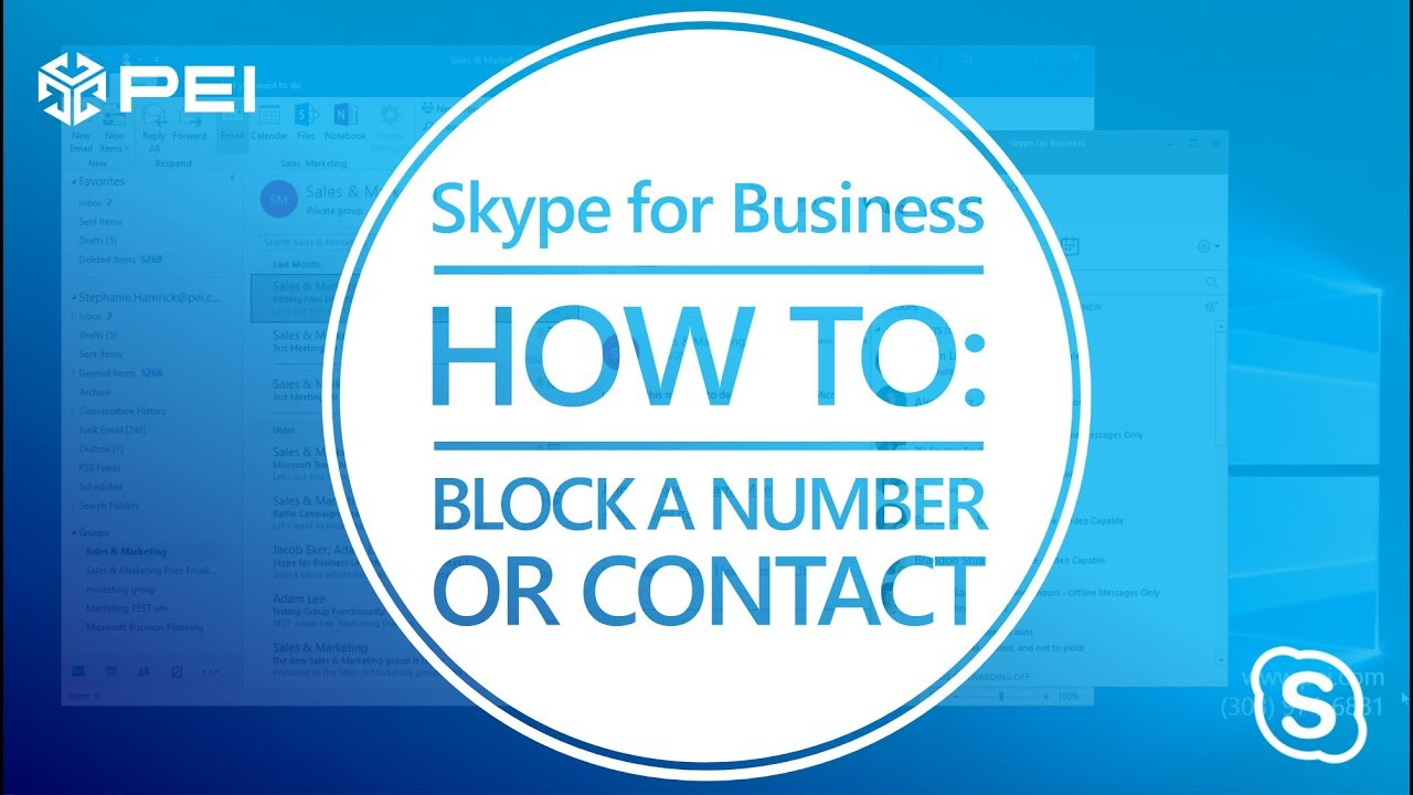 Microsoft Skype for Business - How to Block a Number - PEI
