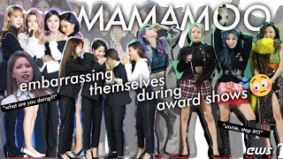 MAMAMOO embarrassing behaviors during award shows