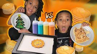 PANCAKE ART CHALLENGE!! ( so fun )