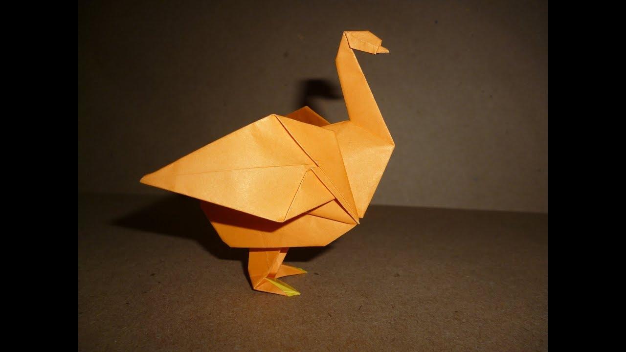 on origami goose diagram
