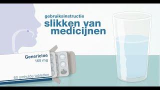 Slikken van medicijnen - methode 1