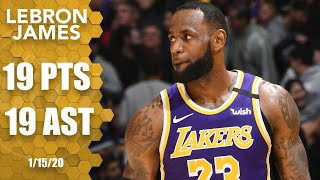 LeBron drops 19 points, 19 assists in Magic vs. Lakers matchup | 2019-20 NBA Highlights