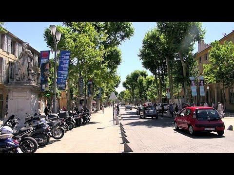 Aix-en-Provence - Cours Mirabeau, Provence, France [HD] (videoturysta)