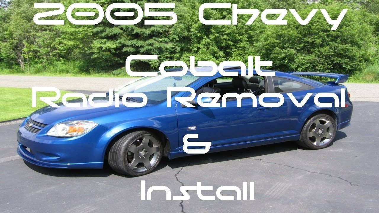 small resolution of 2005 chevy cobalt double din touch screen radio stereo install and remove
