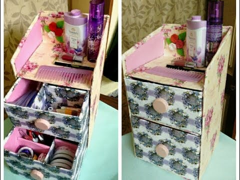 Desk Organizer Using CardBoard || DIY Drawers || Best Out Of Waste || Easy