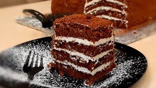 Самый САМЫЙ БЫСТРЫЙ торт за 30 минут можно сразу подавать на стол Шоколадно медовый торт