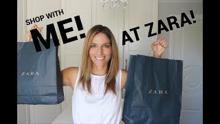 Shop with me at Zara!