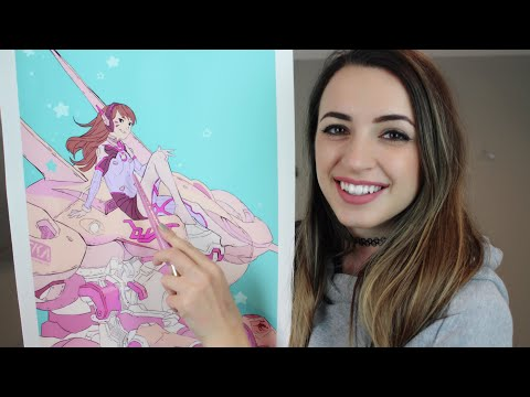 [ASMR] Tracing & Tapping on My Art Collection