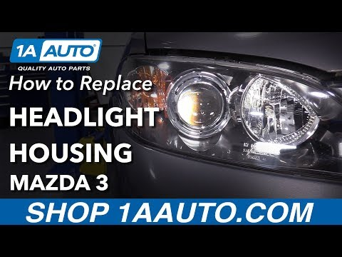 How to Replace Headlights on a 2007 Mazda 3