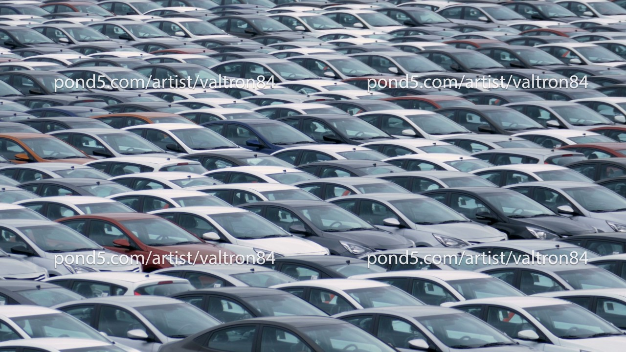 Storage Parking Lot of New Unsold Cars - YouTube