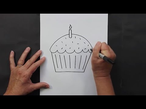 Drawing for Kids Learn How to Draw a Cupcake Step by Step YouTube
