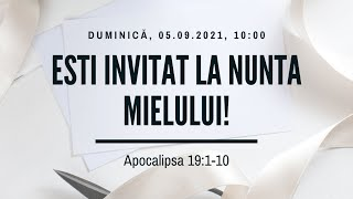 Sfânta Treime Brăila - 5 Septembrie 2021 - Iosua Faur - Apocalipsa 19:1-10