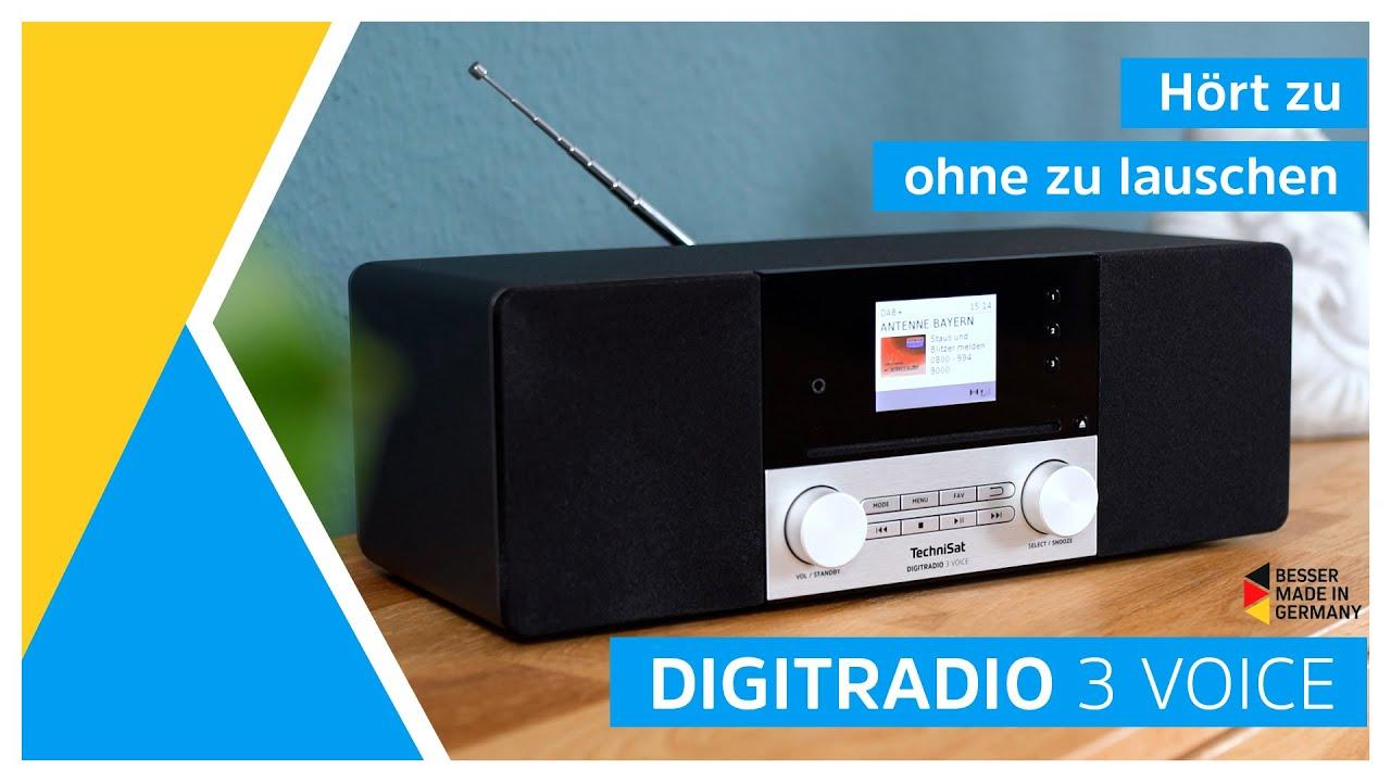 Video: DAB+/UKW/CD- Stereoradio mit Sprachsteuerung | DIGITRADIO 3 Voice | TechniSat