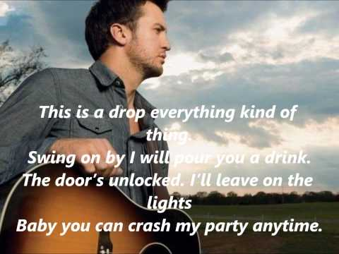 Luke Bryan Crash My Party with Lyrics
